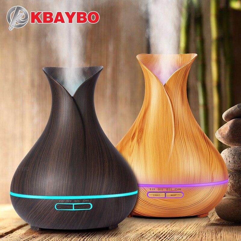 400 ml de Óleo Essencial de Madeira Ultrasonic Aroma Difusor Névoa Fria Umidificador para o Office Quarto Do Bebê Quarto Estudo Yoga Spa