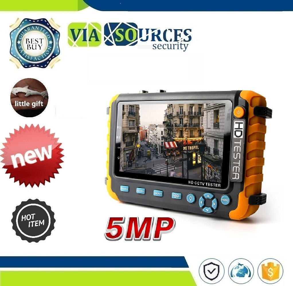 4 IN 1 TVI AHD CVI Analog Security Cam Tester Video Audio Test 5MP CCTV Security Camera Tester With 5 Inch TFT LCD Monitor4 IN 1 TVI AHD CVI Analog Security Cam Tester Video Audio Test 5MP CCTV Security Camera Tester With 5 Inch TFT LCD Monitor