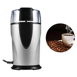 Electric Coffee Grinder Spice Maker Stainless Steel Blades Coffee Beans Mill Herbs Nuts Cafe Home KitchenTool EU Plug