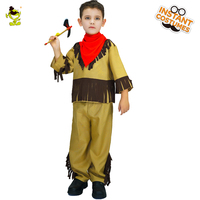 2017 New Halloween Costume Kids Indian Natives Costume Ancient Boys Cosplay Costumes For Role Play Party