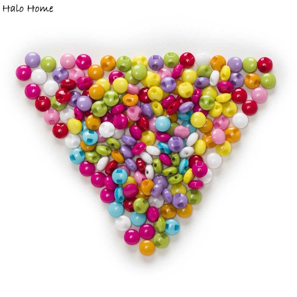 Candy Chocolate 100pcs Round Shank Eye Resin Button Sewing - Seni, kraf dan jahitan - Foto 4