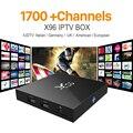 Caixa de Iptv X96 2G16G S905X Céu ELE Árabe do REINO UNIDO DE Android Europa Caixa De IPTV Para Espanha Portugal Holanda Turco Inteligente Wi-fi Caixa de Tv IPTV