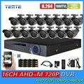AHD-M TEATEA 16CH CCTV Sistema de Vigilância de Vídeo HD 720 P DVR 16 pc Kit AHD 720 P câmera de CCTV Segurança HDMI 1080 P TET-G16D7PB02K04