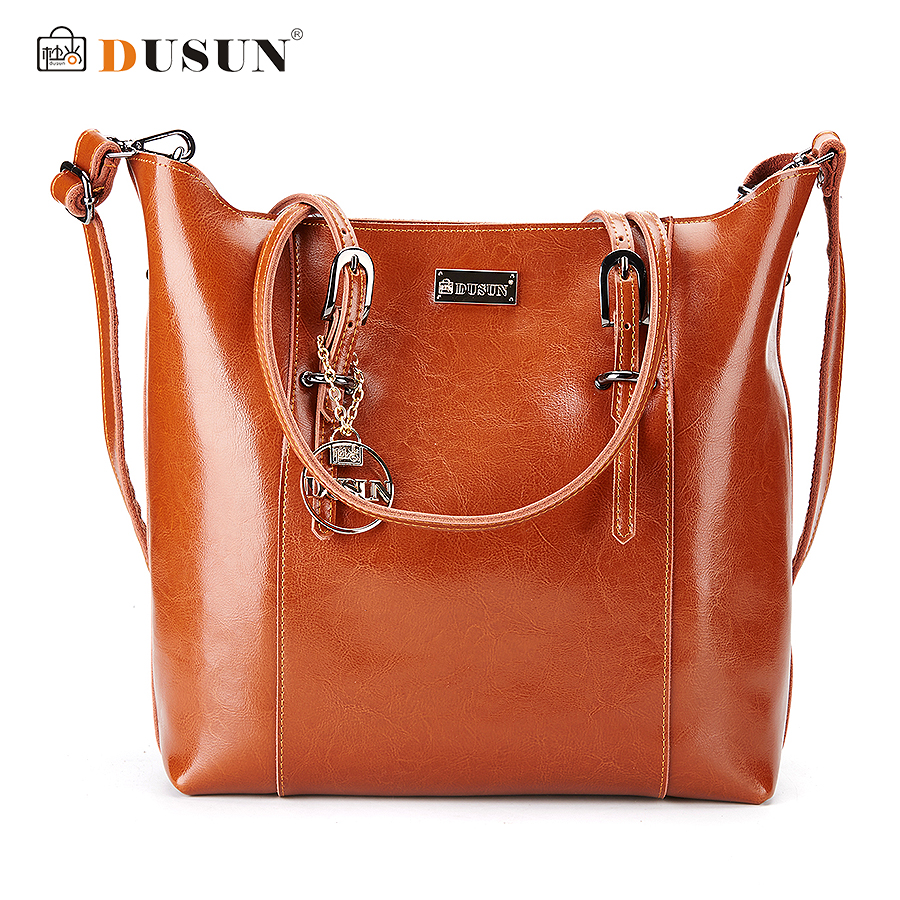 Dusun Genuine Leather Handbags Famous Brand Women Bags Fashion Casual Handbags H