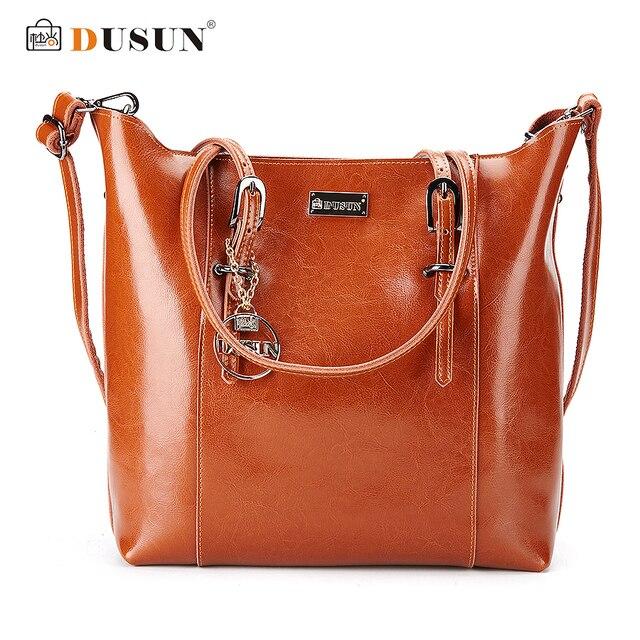21dd3f5f0a Dusun Genuine Leather Handbags Famous Brand Women Bags Fashion Casual  Handbags High Capacity Shouder Bags Vintage Women Bag