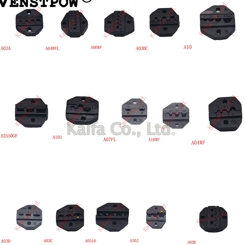 1pcs  Die Sets A03A Non-insulated Open Plug Type Connector Tool Parts A06WF A04WFL A03BC A03C A03D A30J A2550GF Terminals A101
