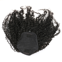 3B 3C Crépus Bouclés Queues de Cheval Clip Dans 100% Miel De Cheveux Humains Reine Cheveux Produits Brésiliens Vierge Cheveux Couleur Naturelle