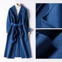 Пульсации воды шерсть кашемировая шерсть шерстяное пальто длинное шерстяное пальто женские