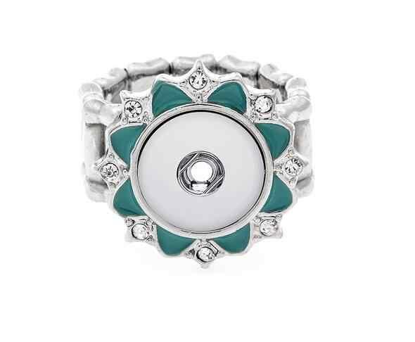"""מצליפה אלסטי טבעת fit 12 מ""""מ DIY בציר של נשים כפתורי הצמד מתכת טבעת שעונים גברים של תכשיטי אופנה נשים"""