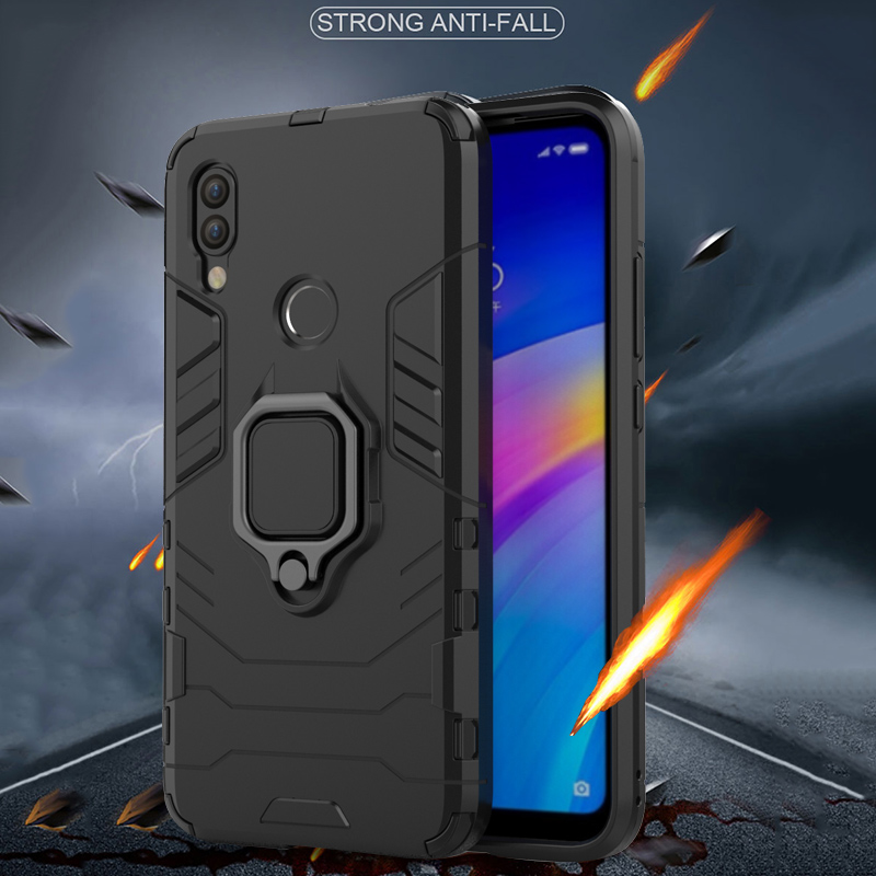 Image 2 - Armor Ring Case For xiaomi redmi 7 case Magnetic Car Hold Shockproof Protective Soft Bumper Phone Cover For xiaomi redmi 7 Case-in Fitted Cases from Cellphones & Telecommunications