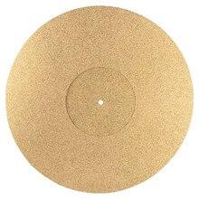 Mantar pikap tabağı Mat 3mm LP kayma Mat Audiophile anti statik Slipmat LP vinil kayıt