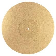 Tapete de placa giratoria de corcho, 3mm, para LP Slipmat, antiestático, para discos de vinilo LP