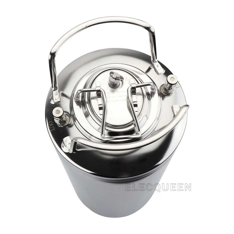 High Quality 19L / 5Gallon 100% New Bright Shining Polished Corny Cornelius Stainless Steel Homebrew Beer Keg With Metal Handle