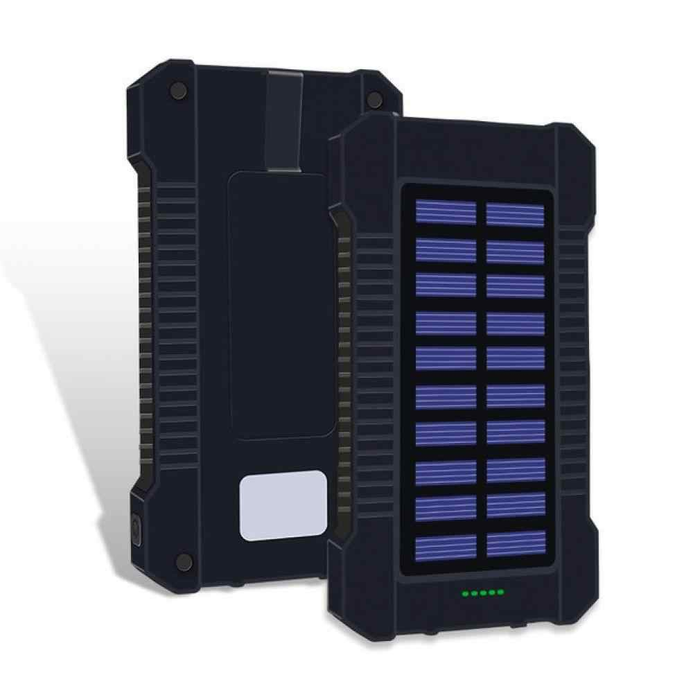 30000mah Солнечный внешний аккумулятор водонепроницаемый светодиодный