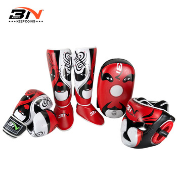BNPRO Arts Martiaux MMA Boxe Tibia Gardes Muay Thai Kickboxing Jambes Protections Protection Leggings équipement
