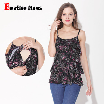 Emotion Moms Floral Pregnancy Maternity Clothes Tank Tops Breastfeeding Tops For Pregnant Women Summer Vest Tops tops