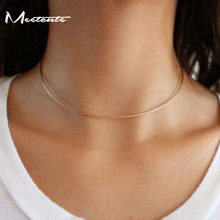 Meetcute Fashion Design Thin Metal Torques for Women Simple Modern Design Party Choker Gold/ Silver Available Choker Necklace(China)