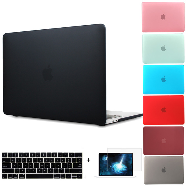 New Crystal Clear Hard Case Cover for MacBook Pro 13 A1706 Pro 15 A1707 With Touch Bar Matte Laptop Case for Pro 13 A1708 Cover