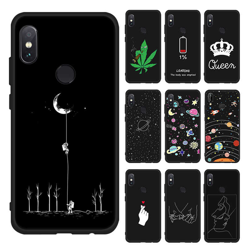 For Huawei Honor Note 10 9 8 Lite 8X Max Case Leaf Print Soft TPU Slim Black Cover For Honor 8C 7X Magic 2 6C Pro V9 Play Cases