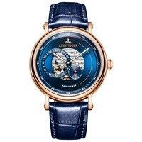 Reef Tiger/RT 2019 Роскошные Брендовые мужские дизайнерские часы синий резерв автоматические часы модные наручные часы на кожаном ремешке RGA1617