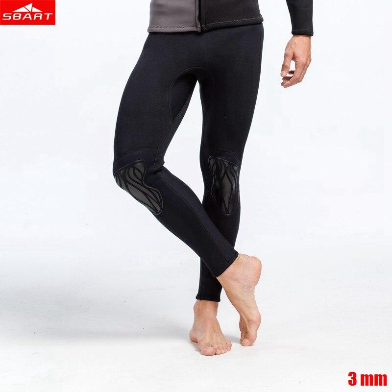 Sbart Men 3mm neoprene long pants Freediving swimsuit Split surf Warm stretch spearfishing Diving pants snorkel swimming pants