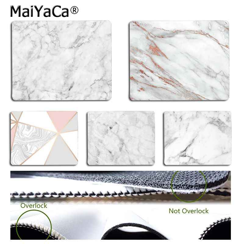 MaiYaCa In Stocked Pink Gold White marble  Comfort small Mouse Mat Gaming Mouse pad Simple Design Speed Game Mouse Pads