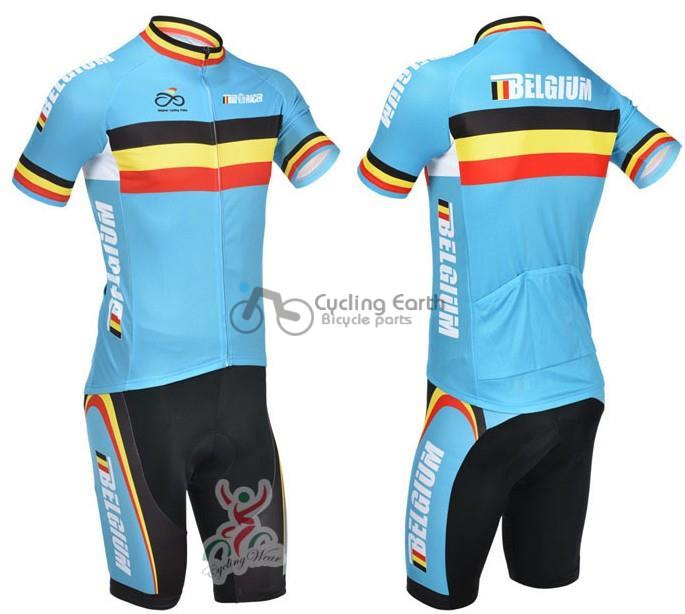 Free shipping! Belgium 2013 short sleeve cycling jersey shot,bike bicycle riding wear clothes jerseys Z123 set kit
