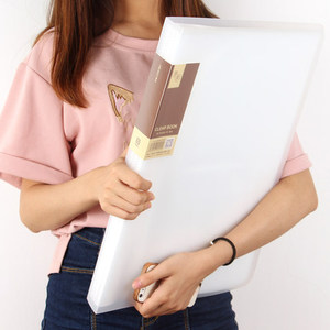 Image 5 - 20/30/40/60 Pockets School Booklet A3 Clear File Organizer PVC Bag Book Office Organizer For Documents