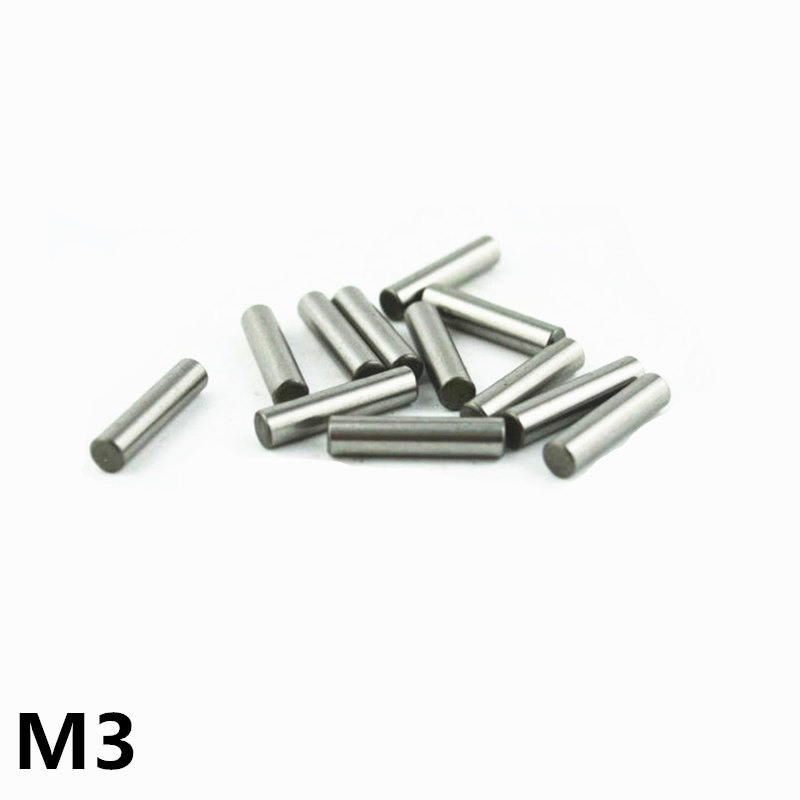 100pcs 3 mm Bearing Steel Cylindrical Pin Locating Pin Needle roller Thimble Length 5 6 7 8 10 12 14 16 18 20 22 24 26 28-40 mm image