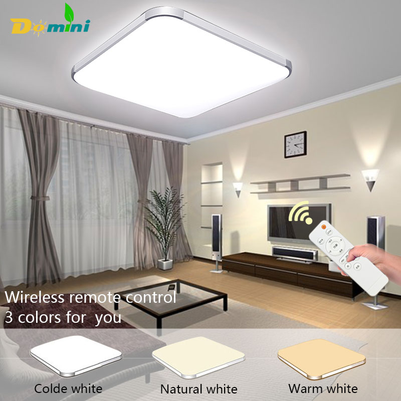 Luminaria 3 Color Ceiling Lighting Lamp With Remote Controller Ceiling Lights 18W30W Square Modern Led Chandelier