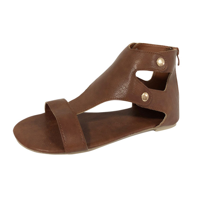 2018 New Fashion Women Shoes Ladies Summer Roman Sandals Fashion Flat Roman Shoes Female Casual Buckle Strap Shoes zapatos mujer