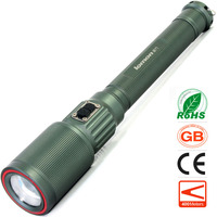 Zoom LED Flashlight 1000 Lumens 10W CREE T6 Magnetic charger Telescopic Zoomable Intelligent Electric Torch Olight Torchlight