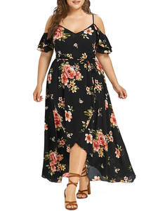 feitong Women maxi dress Boho summer plus size long sexy