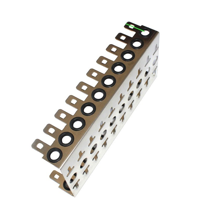 Thickened Stainless Steel Krone Voice Module Dedicated 10-units Iron Frame For 10 Pairs Krone Telephone Snap-in Terminal Block