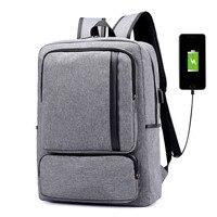 Men Backpack USB Charging Waterproof Nylon Travel Business Laptop Backpacks 17 Inch School Bag Backpacks
