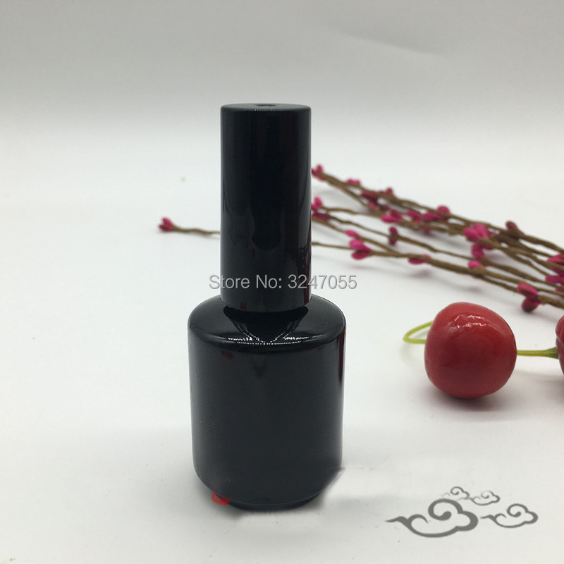 15ML 10pcs30pcs50pcs Empty Black Glass Nail Oil Bottle A Lid Brush, Professional Nail Polish Containers, Nail Decorartions Tool цена