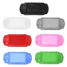 Silikon yumuşak koruyucu kapak kabuk için Sony PlayStation taşınabilir PSP 2000 3000 konsolu için PSP3000 vücut koruyucu kılıf