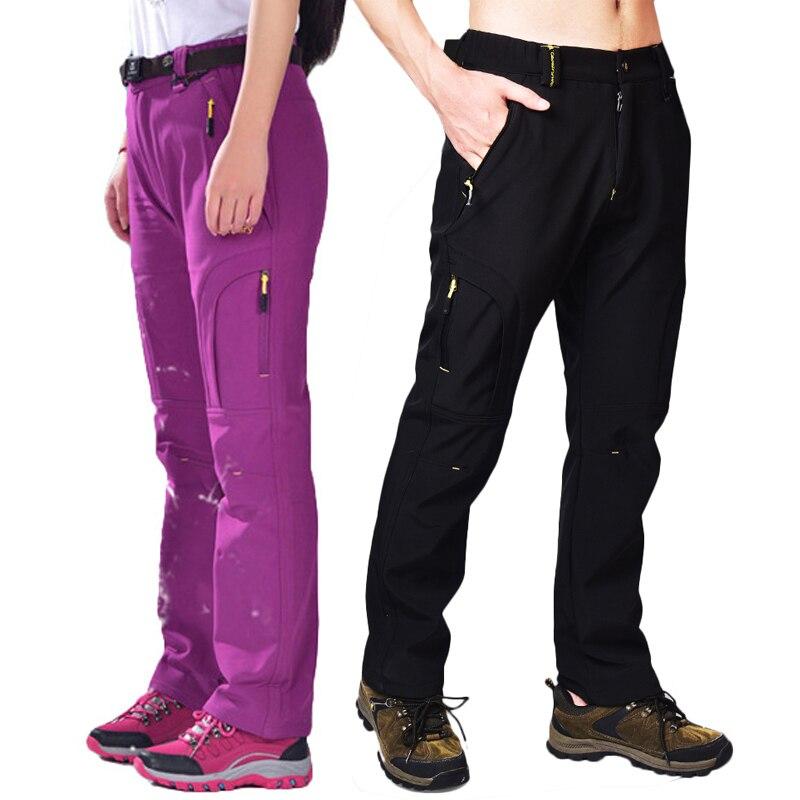 купить CavalryWalf Fleece Lining Camping Hiking Pants Men Women Winter Warm Waterproof Trousers Outdoor Sport Trekking Ski Pants,AM013 недорого