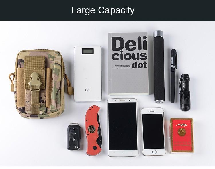 Uniwersalny Odkryty Wojskowy Molle Tactical Kabura Pasa Biodrowego Pasa Torba portfel kieszonki kiesy telefon etui z zamkiem błyskawicznym na iphone 7/lg 6