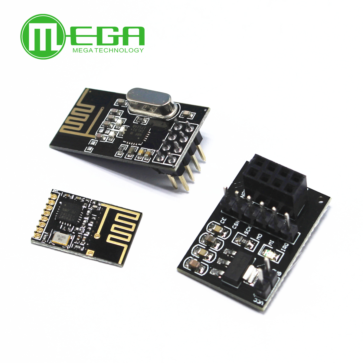 NRF24L01+ Wireless Data Transmission Module 2.4G / The NRF24L01 Upgrade Version 2Mbit/s NRF24L01 Socket Adapter Plate Board