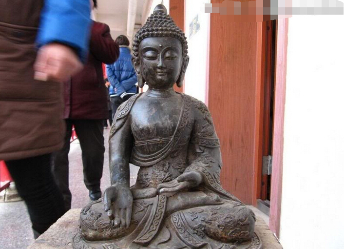 150624 S1927 14 Tibet bouddhisme Temple classique Bronze deux Dragon Sakyamuni bouddha Statue150624 S1927 14 Tibet bouddhisme Temple classique Bronze deux Dragon Sakyamuni bouddha Statue