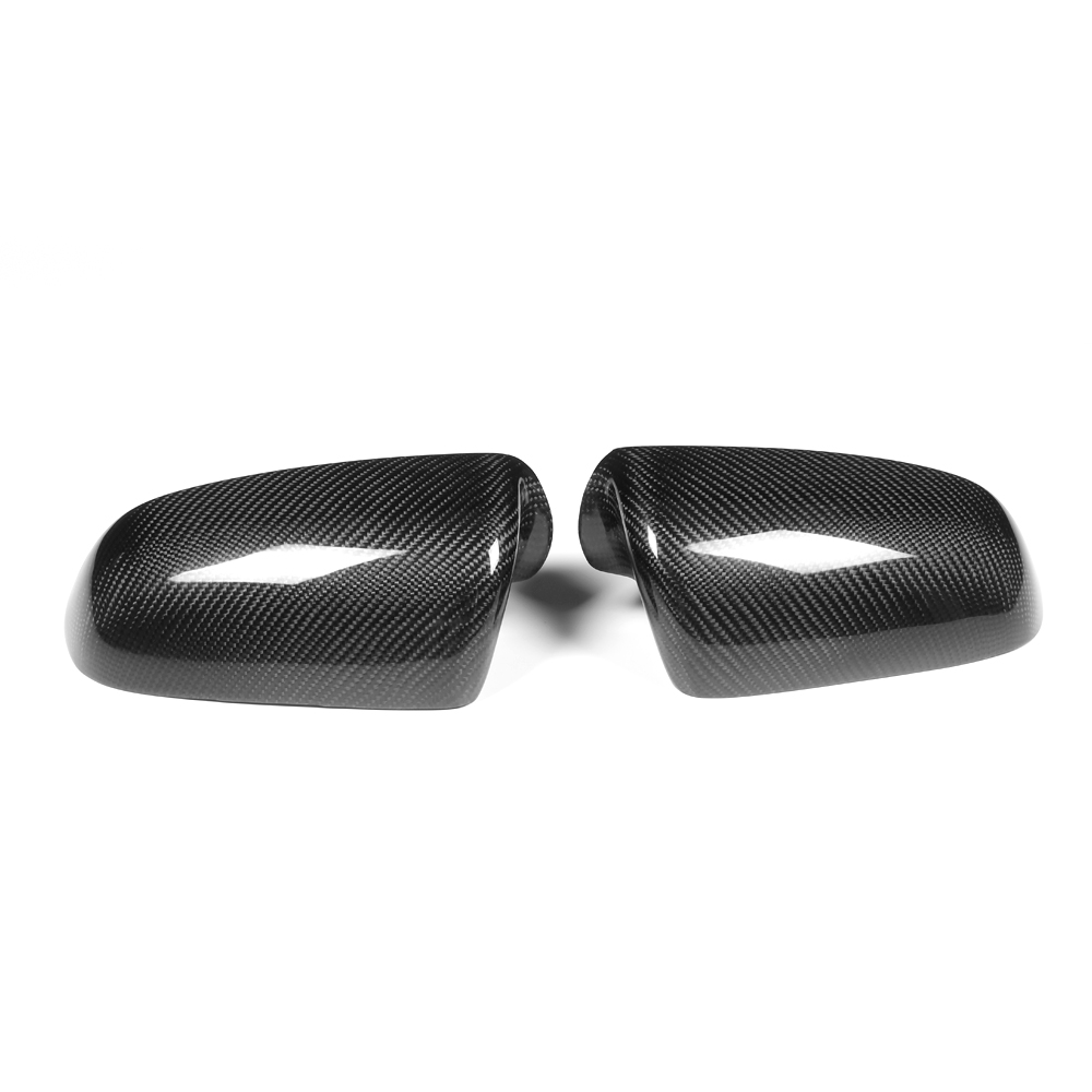 Carbon fiber Rear Mirror Covers Caps for Audi A4 B6 A4 B7 2006 2007 Add On Style Without Side Assist for cadillac ats full add on style carbon fiber mirror covers 2014 2015