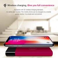 10000 mAh Energienbank Qi Wireless-ladegerät für iPhone X 8 Dual USB Powerbank Handy Externe Batterie für Xiaomi Samsung LG