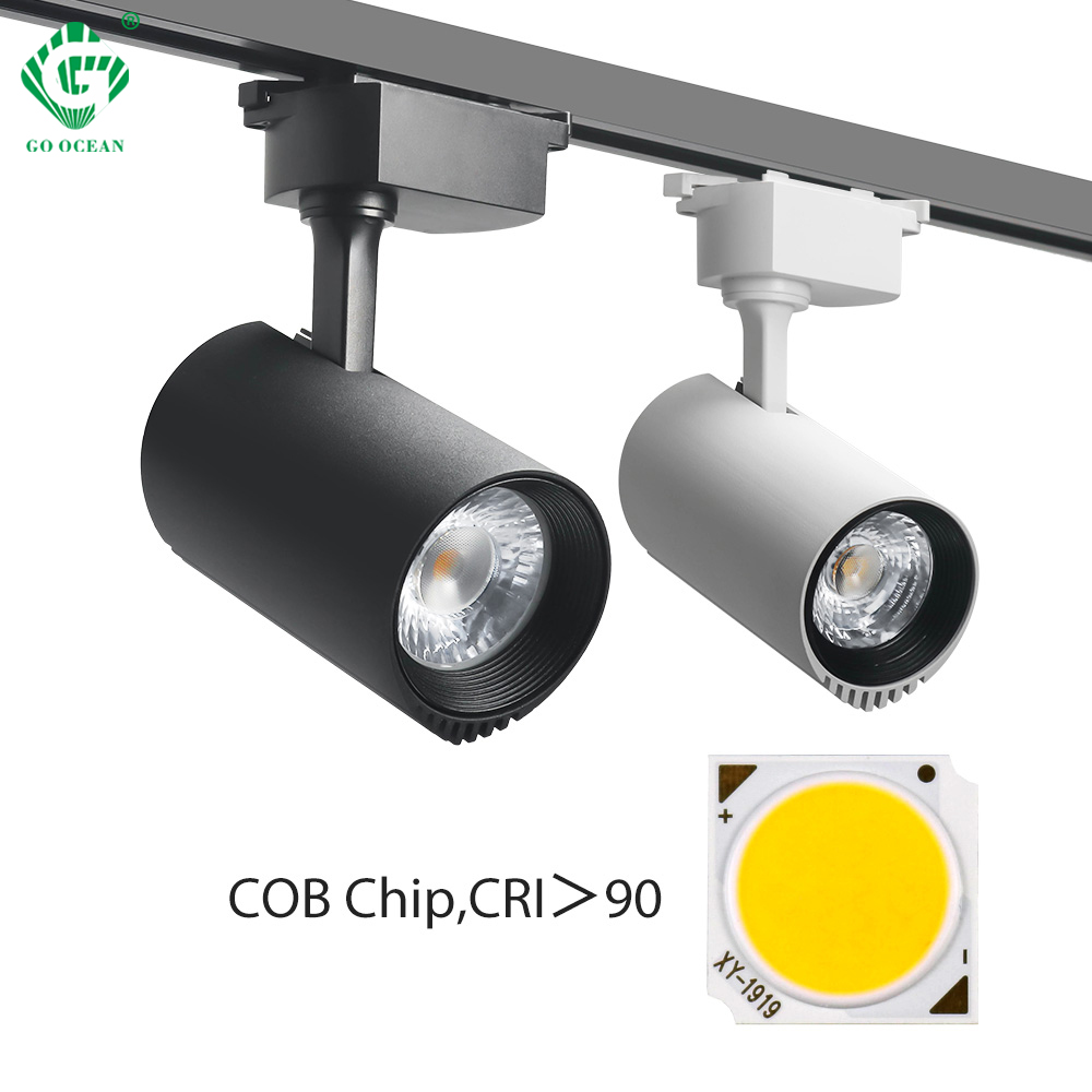 Modern Track Light 40W LED Aluminum Rail Spotlights Lamp Clothing Shop Store Showroom Rail Spot Light 110V/220V/230V/240V
