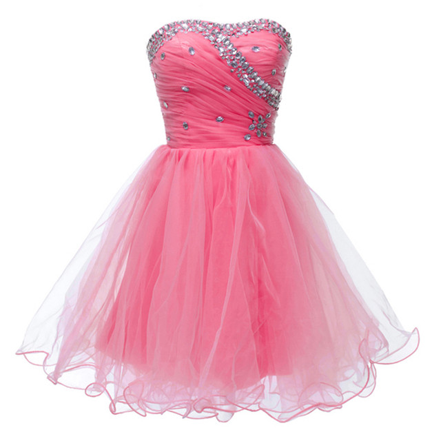 Young Girl Above Knee Black Pink Blue Semi Formal Homecoming Dresses Sexy  Mini Prom Dress Cocktail Party Gown Lace up ZHP015 a8aca2d9b