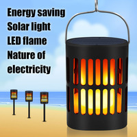 Torch Home Decor Led Garden Ornament Outdoor Solar Lamp Waterproof Party Realistic Easy Install Bulb Durable Flame Effect