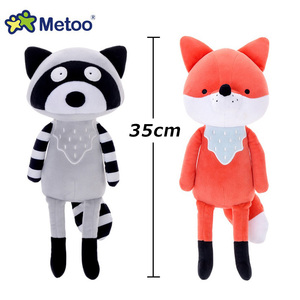 Image 3 - 35cm Metoo Cute cartoon Stuffed animals plush toys doll  fox raccoon koala dolls for kids girls Birthday Christmas child gift