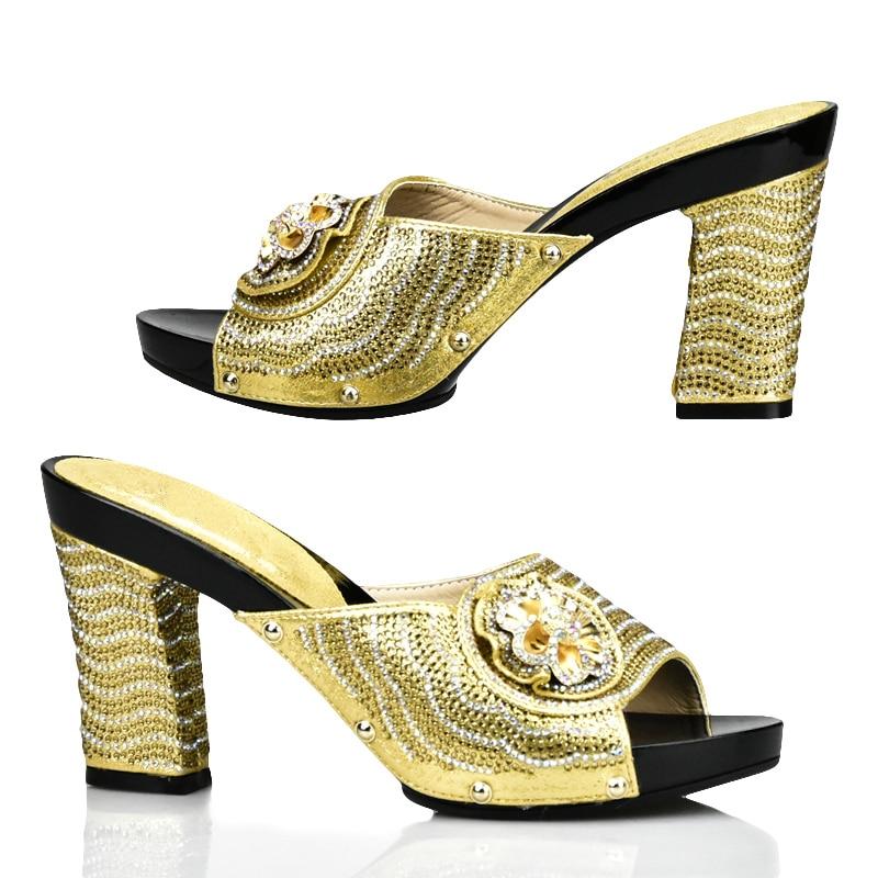 or Italie Nigérian Assorties Chaussures Dames Sac 2017 Et Ensemble Ensembles Mode Noir Décoré Strass rouge rose bleu Avec Nouveau Sqxa4C
