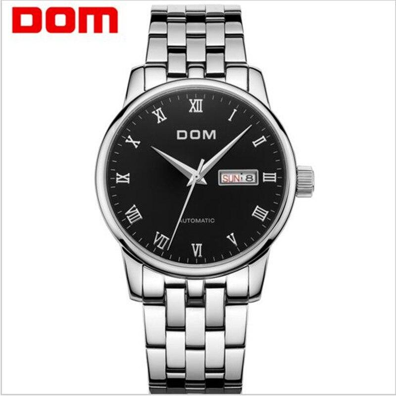 2017 new Fanous DOM luxury automatic mechanical watch hollow steel tide male table 30 meters waterproof