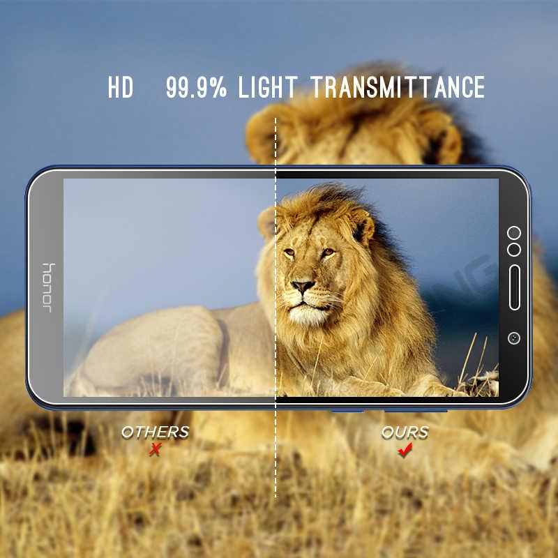 Высокопрозрачное закаленное стекло для huawei Honor 8 9 Lite 7C 7A 6C Pro Y6 Y5 Y7 Prime 2018 Защитная пленка для экрана